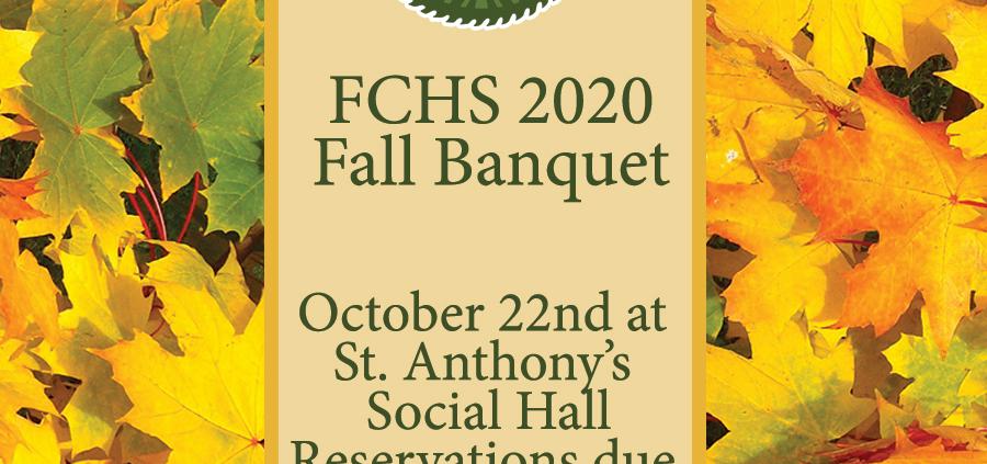 FCHS 2020 Fall Banquet